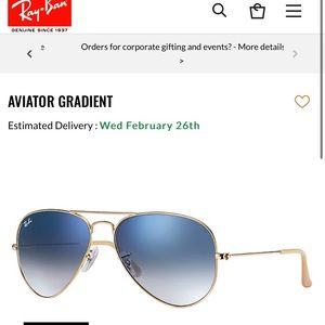 Rayban aviator gradient